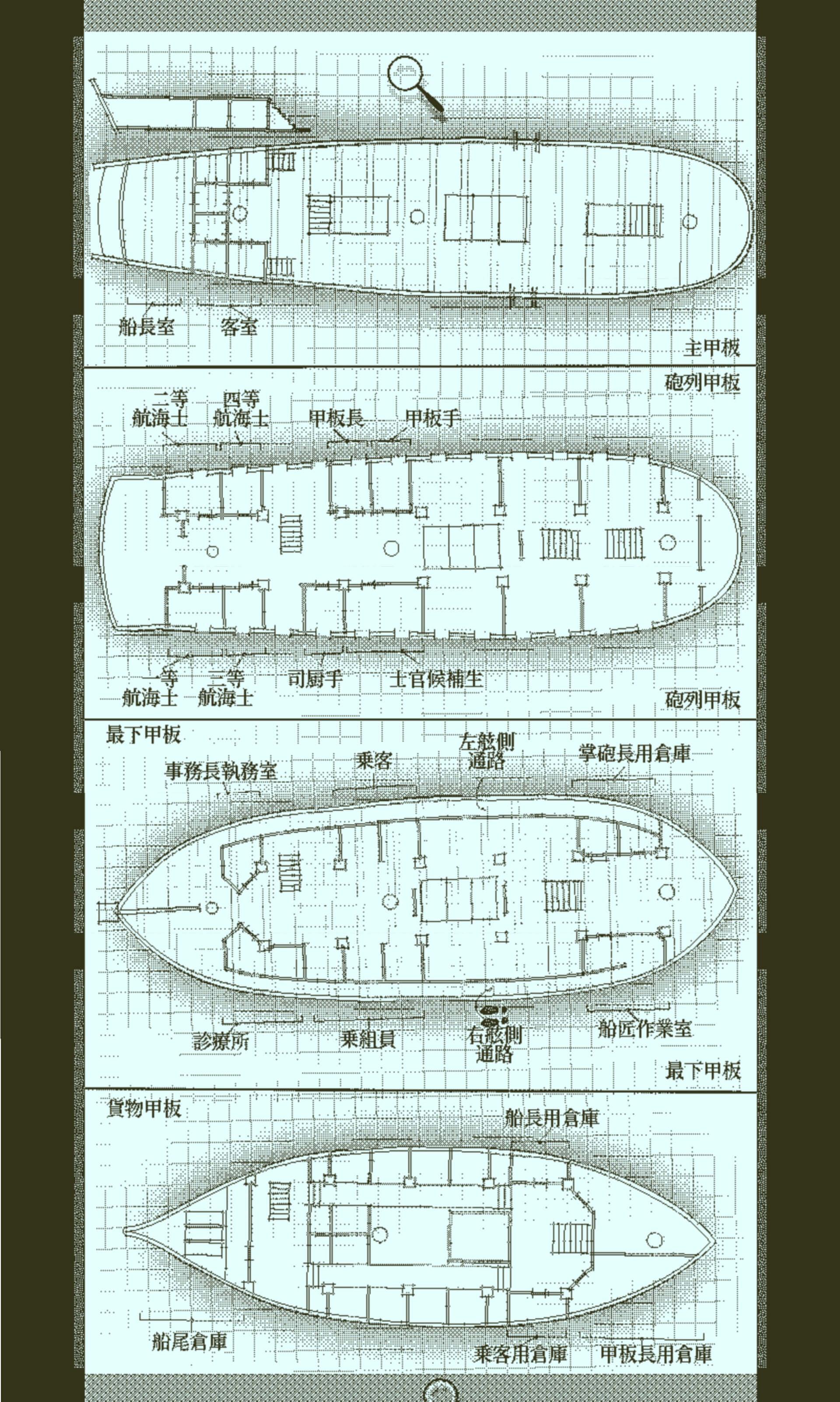 オブラ・ディン号船内図